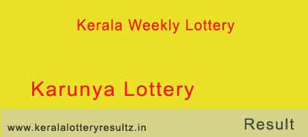 Karunya Lottery Result 10/11/2018