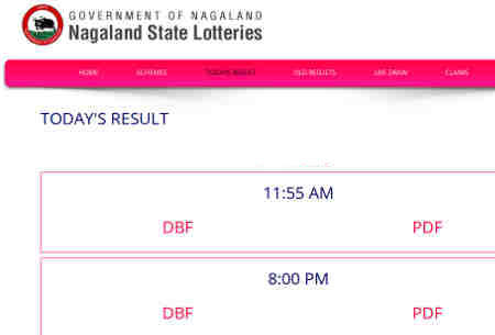 Nagaland Lottery Result 10.11.2018- 11:55 am