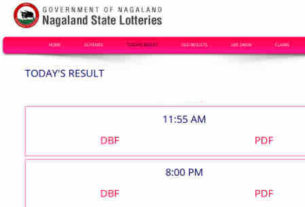 Check Nagaland Lottery Result 14.11.2018 - 11.55 am