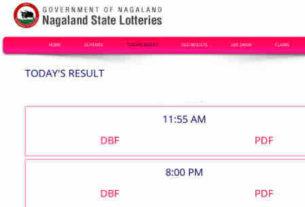 nagaland lottery result 9.11.2018 - 11.55 am