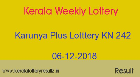Karunya Plus Lottery KN 242 Result 06/12/2018