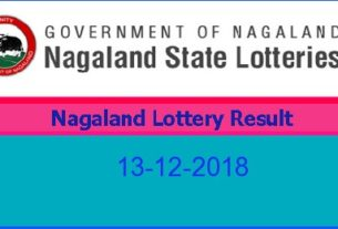 Nagaland Lottery Result 13.12.2018 (8 pm)
