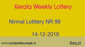 Nirmal Lottery NR 99 Result Today 14/12/2018