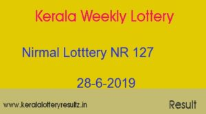 Nirmal Lottery NR 127 Result Today 28.6.2019 (Live)