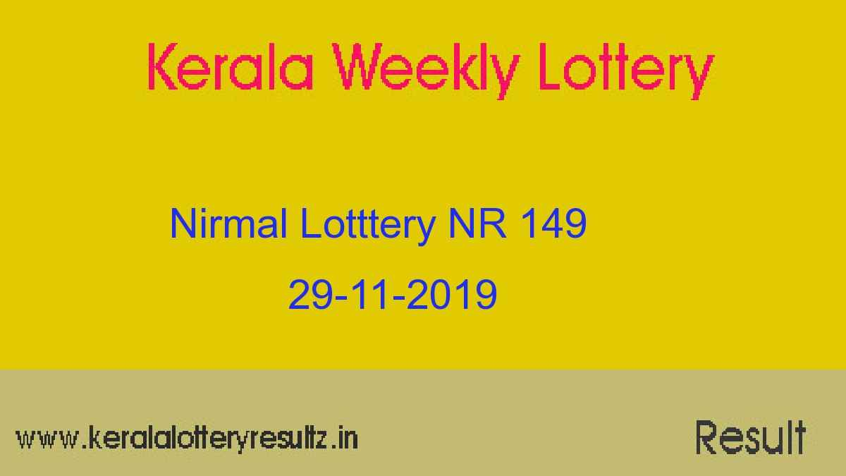Nirmal Lottery NR 149 Result Today 29.11.2019 (Live)