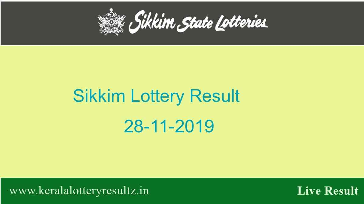 Sikkim Lottery Result 28-11-2019 Dear Super (4.30 PM)