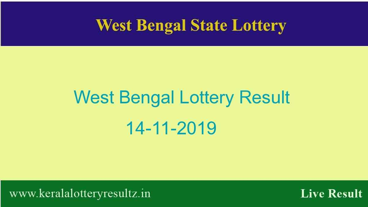 West Bengal Lottery Result 14.11.2019 (4 PM) Lottery Sambad