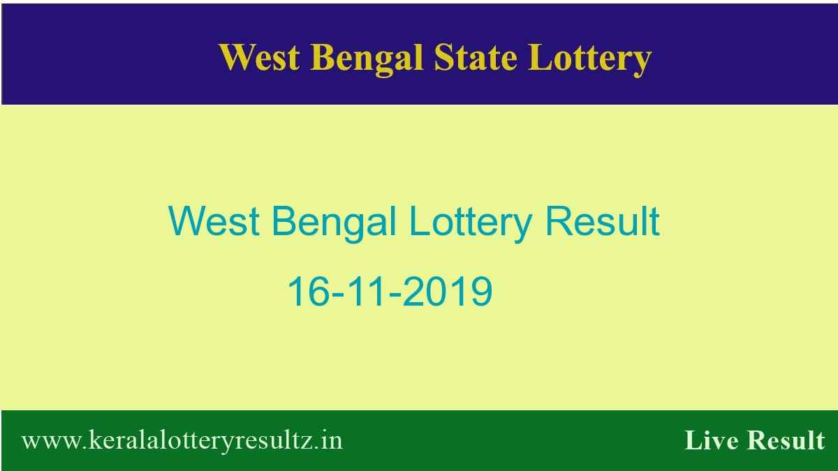 West Bengal Lottery Result 16.11.2019 (4 PM) Lottery Sambad