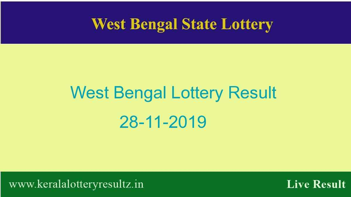 West Bengal Lottery Result 28.11.2019 (4 PM) Lottery Sambad