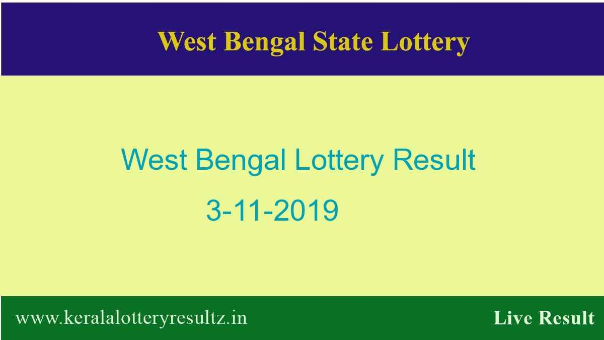 West Bengal Lottery Result 3.11.2019 (4 PM) Lottery Sambad