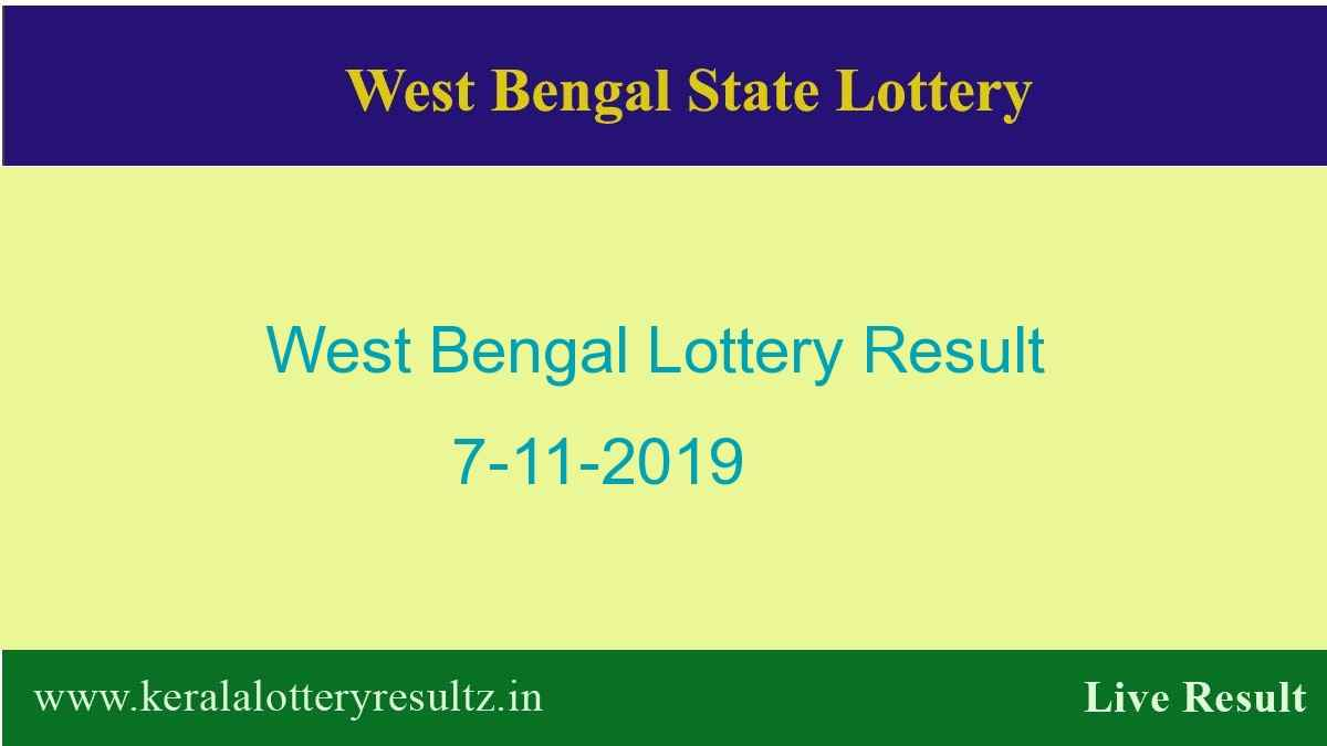West Bengal Lottery Result 7.11.2019 (4 PM) Lottery Sambad
