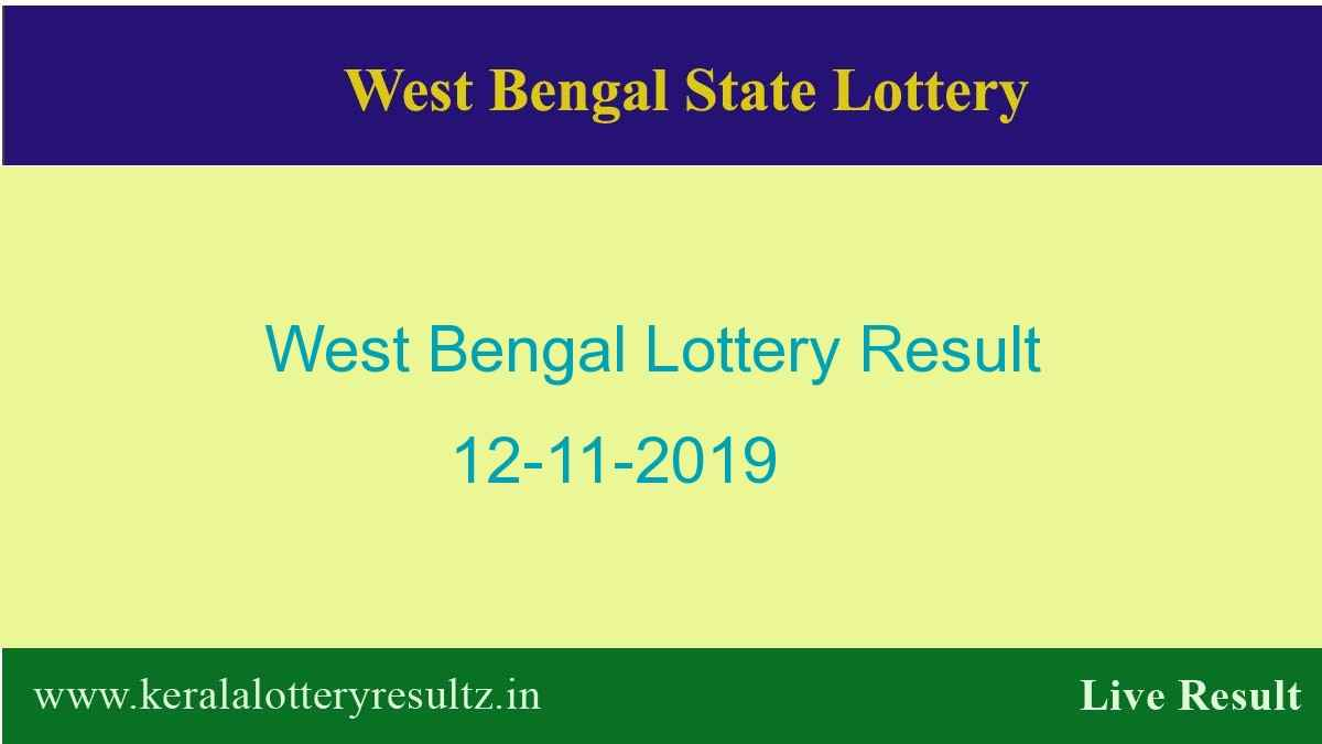 West Bengal State Lottery Result 12.11.2019  (4 PM) Lottery Sambad