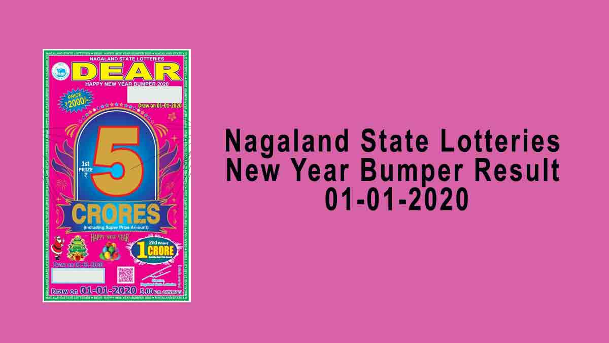 Nagaland New Year Bumper Lottery Result 01.01.2020 (5 PM)
