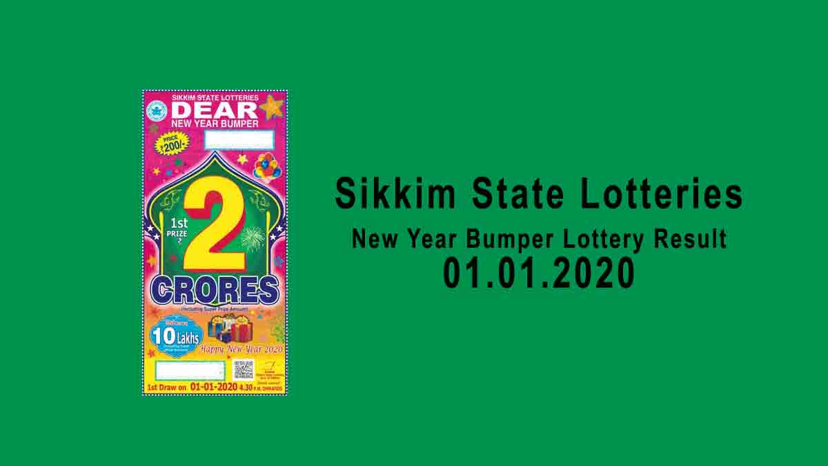 Sikkim New Year Bumper Lottery Result 01.01.2020