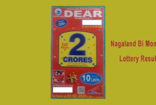 Nagaland Bi Monthly Lottery Result 1.2.2020