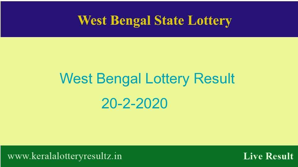 West Bengal Lottery Result 20.2.2020 (4 PM) Lottery Sambad