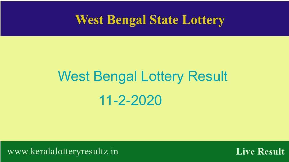 West Bengal State Lottery Result 11.2.2020 (4 PM)-Lottery Sambad Live