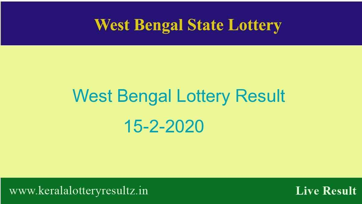 West Bengal State Lottery Result 15.2.2020 (4 PM) Lottery Sambad