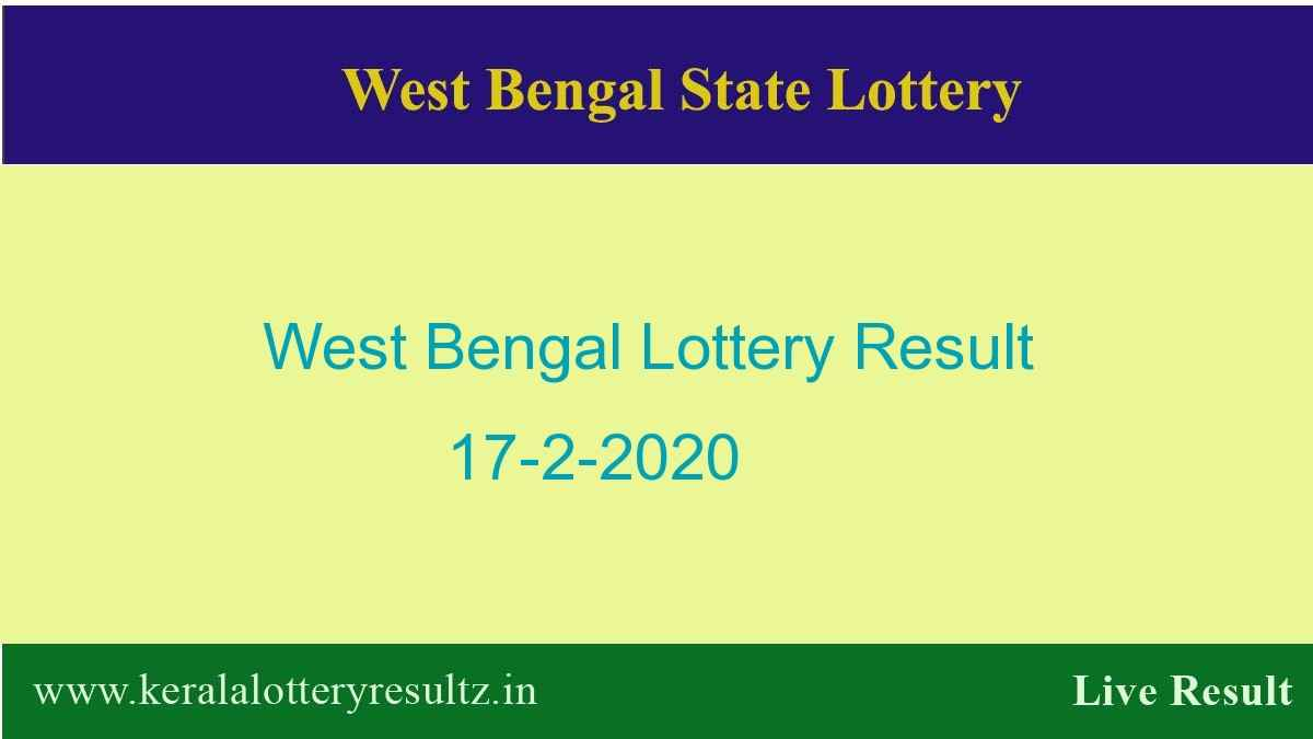 West Bengal State Lottery Result 17.2.2020 (4 PM) - Lottery Sambad
