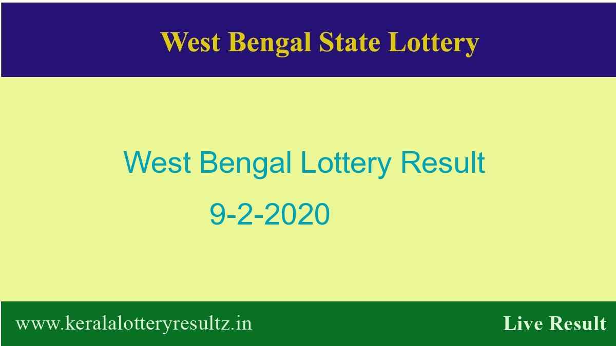 West Bengal State Lottery Result 9.2.2020 (4 PM) Lottery Sambad