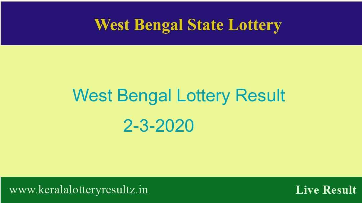 West Bengal State Lottery Result 2.3.2020 (4 PM) - Lottery Sambad
