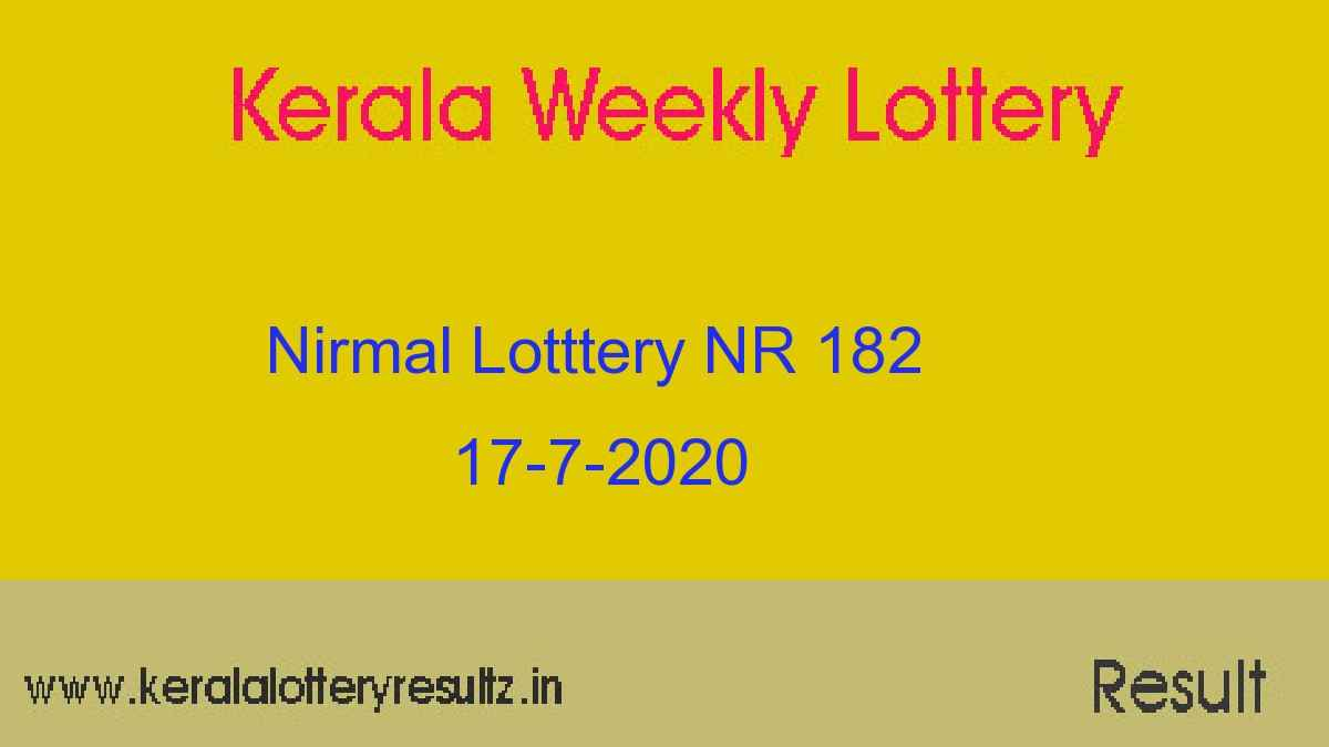 Nirmal Lottery NR 182 Result Today 17.7.2020 (Live@3PM)