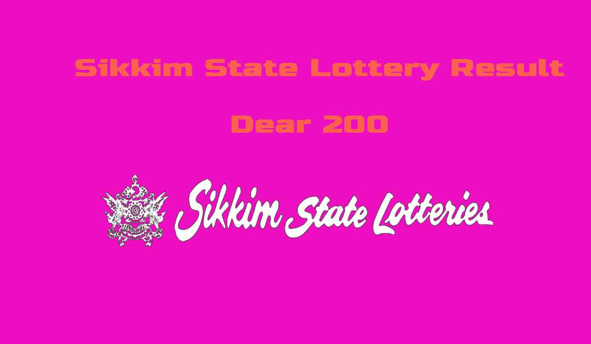 Sikkim Dear 200 Lottery Result