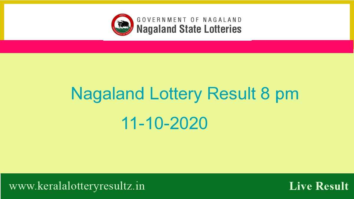 Nagaland State Lottery Sambad (8 pm) Result 11.10.2020 Today Live*