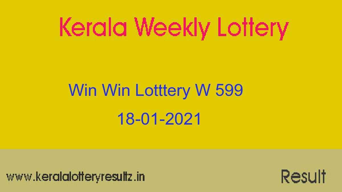 WIN WIN Lottery W 599 Result 18.01.2021 : Kerala Lottery Result (OUT)