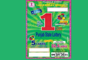 Punjab Dear 100 Friday Weekly Lottery Result 8 PM