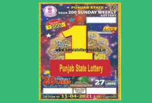 Punjab dear 200 sunday weekly lottery result 8pm