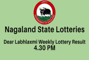 Nagaland State Dear Labh LAxmi Weekly Lottery Result 6PM Today