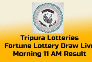 Tripura Lottery Result - 11 am, 3pm, 7pm - Fortune Lottery result