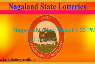 Nagaland Dear 200 Tuesday Lottery 4.30 PM Result (20.7.2021)   Live 4:30PM
